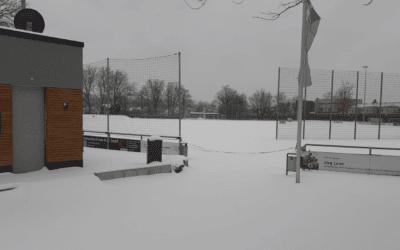 Ein winterlicher Schnappschuss aus der fußballerischen Heimat